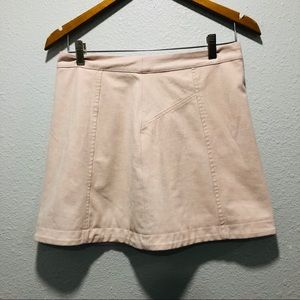Abercrombie & Fitch blush pink suede skirt